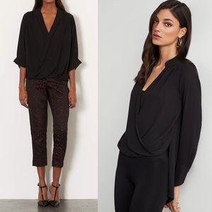 Top Shop• Black drape Blouse